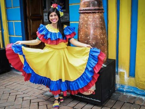 Kolumbien Kleid